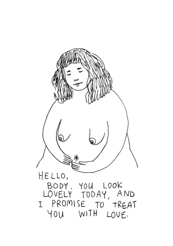 body positive illustration by frances cannon