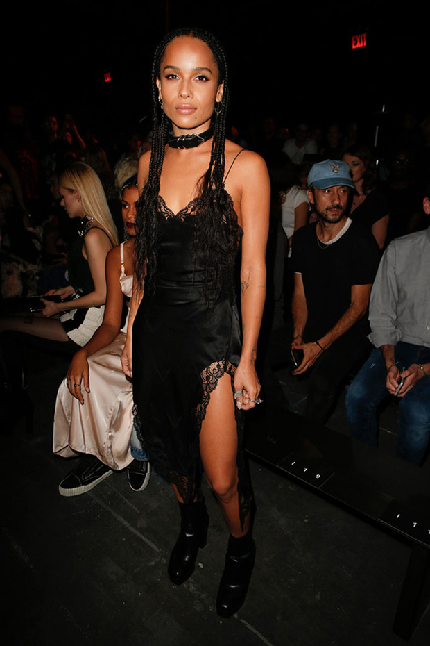 Zoe Kravitz in the front row