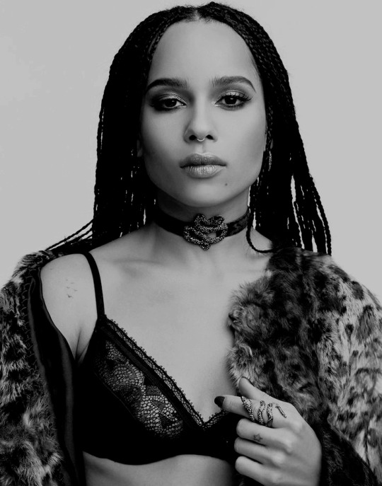 Zoe Kravitz Black and White