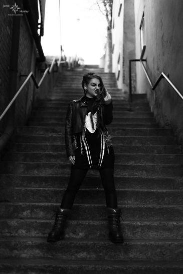 Lolita Laytex bw stairs